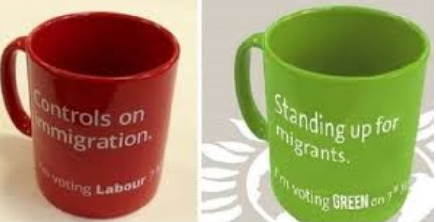 labour party mugs with green