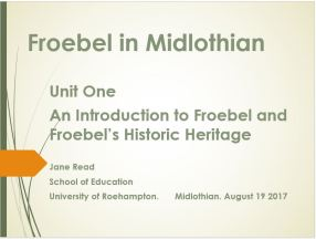froebel course
